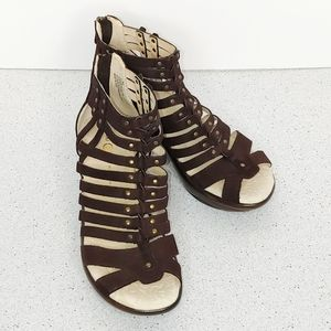 Jambu Sugar Gladiator Suede Sandals